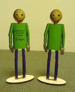 Baldi Wooden Figure Toy Based On Baldi's Basics Game   eBay