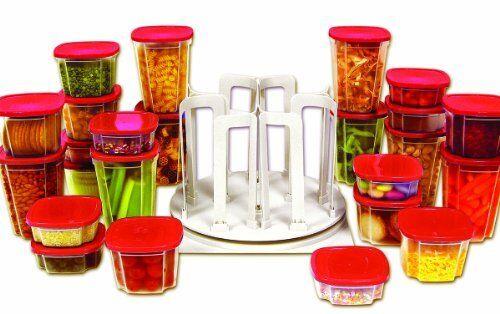 Handy Gourmet JB6503 Swirl Round Carousel Organizer 24 Food Storage Containers | eBay  sc 1 st  eBay & Handy Gourmet JB6503 Swirl Round Carousel Organizer 24 Food Storage ...