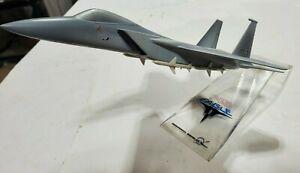 "Vintage McDonnell Douglas F-15 Eagle Factory Promo Desk Top Model Plane 10 1/2"""
