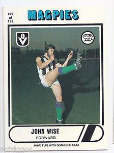 1976-Scanlens-111-John-WISE-Collingwood-Near-Mint