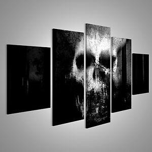 totenkopf abstrakt bild auf leinwand boe mfp ebay. Black Bedroom Furniture Sets. Home Design Ideas