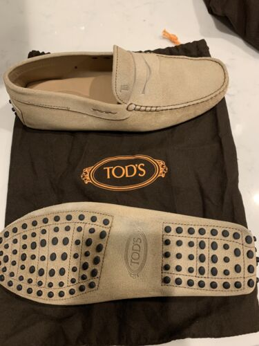 Tods Mens Suede Shoes Size 8