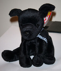 Ty Beanie Baby ~ LUKE the Black Lab Dog (6 Inch) MWMT 8421042142  b953622d826