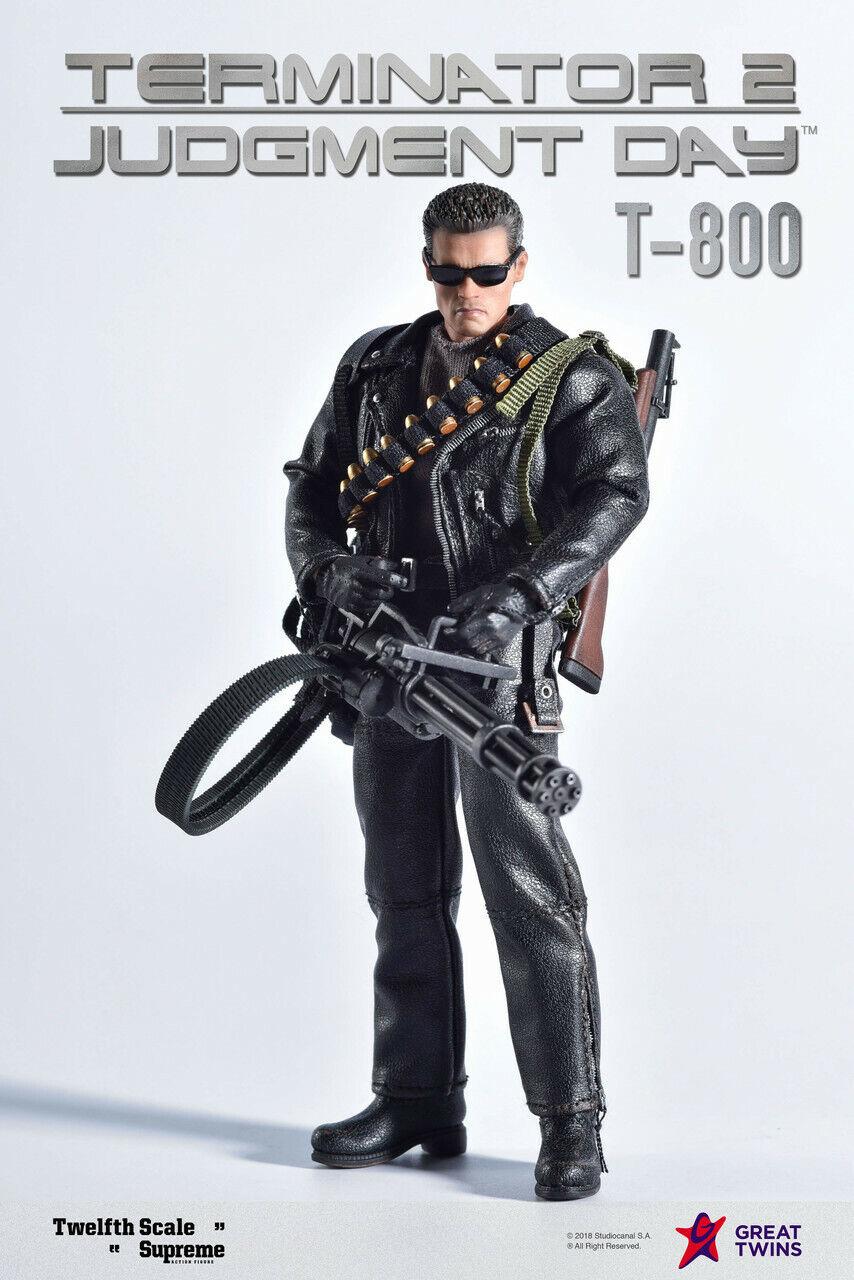 Gran Gemelos Terminator 2 T-800 1 12 escala 6  figura de acción nos Totalmente Nuevo En Mano