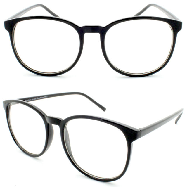 247a317b7914 Retro Black Circle Round Frame Women s Men Clear Lens Glasses VTG 50 s Eye