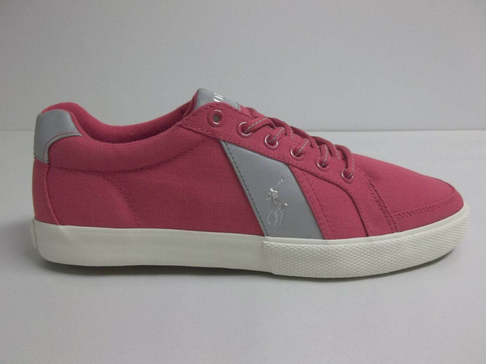 Polo Ralph Lauren Size 10.5 M HUGH Red Canvas Fashion Sneakers New Mens shoes