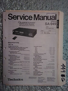 Details about Technics sa-949 service manual original repair book stereo  receiver tuner