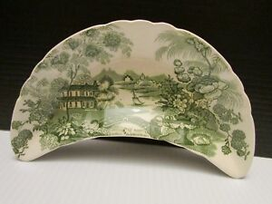 Royal-Staffordshire-Tonquin-Green-Bone-Dish-by-Clarice-Cliff-Made-In-England