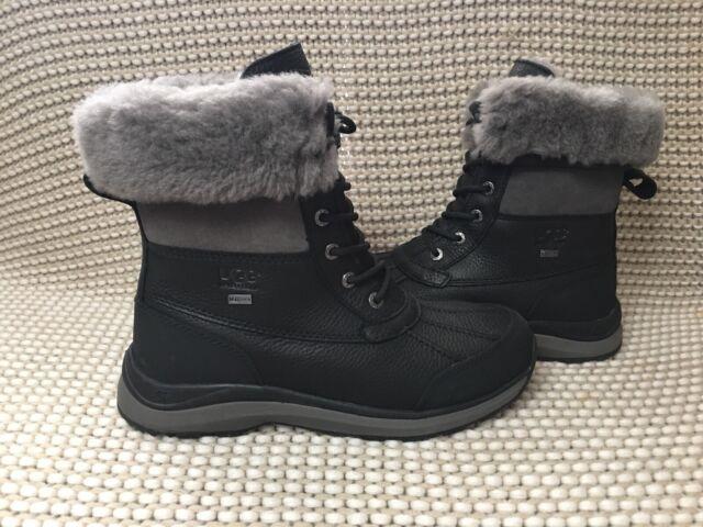 45cb551e2f1 UGG Women's Adirondack III Waterproof Snow Hiking BOOTS 1095141 Black Size 9