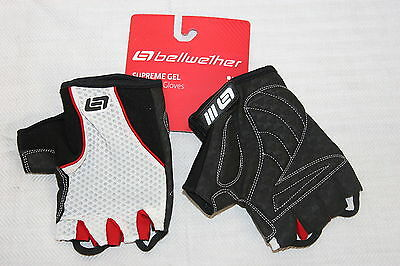 3 pair Bellwether Mens Pursuit Fingerless Gloves XX Large Blk /& Wht Three Pair