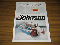 1966 Vintage Ad Johnson Sea-Horse V-4 Outboard Motors