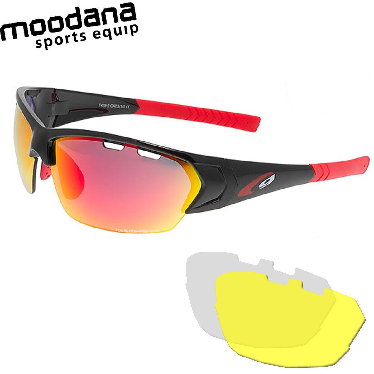 Radbrille Sportbrille Sportbrille Radbrille Multisportbrille mit Wechselscheiben + Band 9a826e