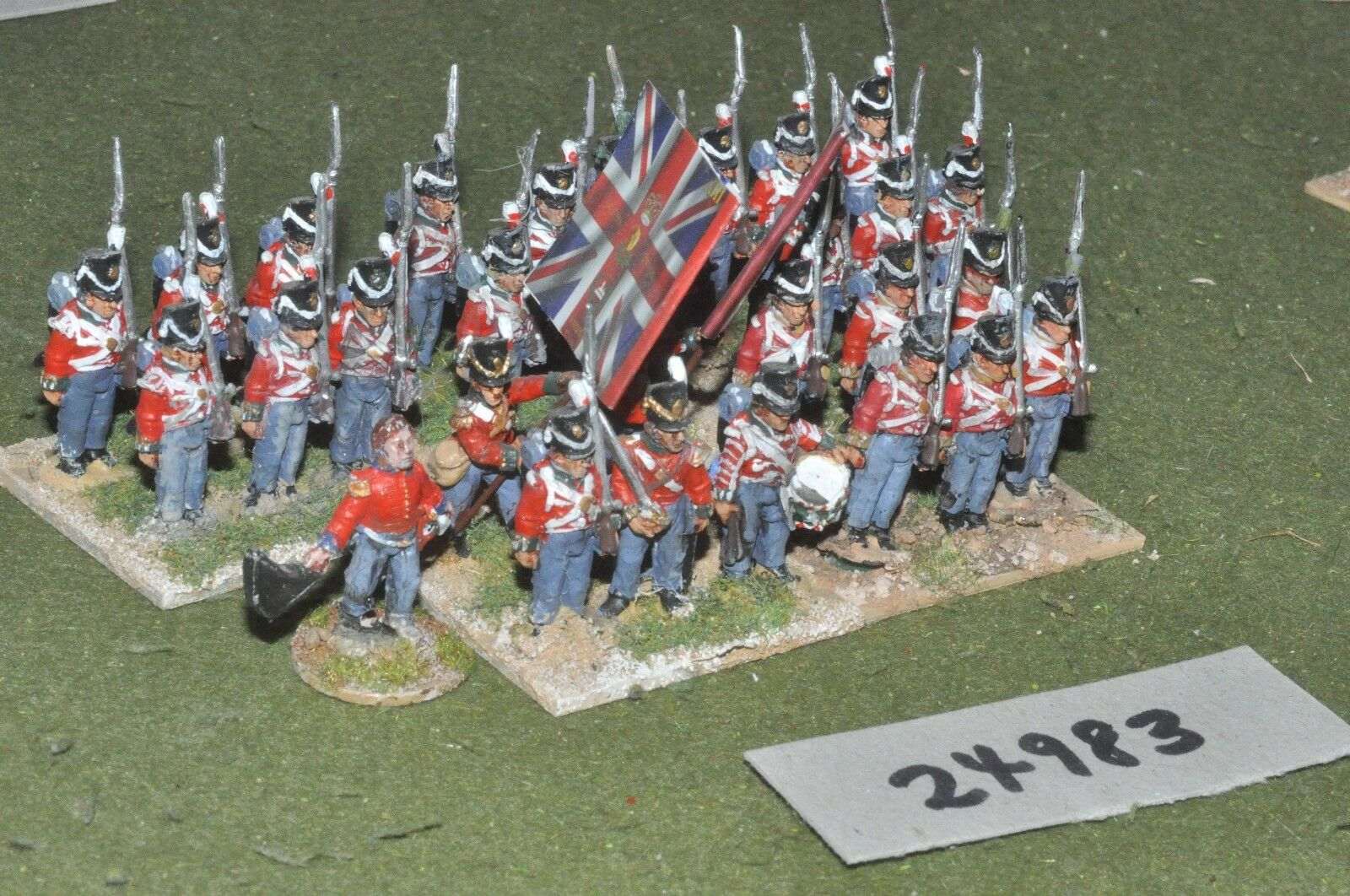 25mm napoleonic   british - line 30 figures - inf (24983)