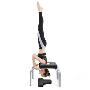 yoga headstand bench with pads family inversion fitness