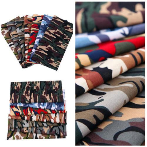 Baumwollstoff Stoffpaket 7 Stück Camouflage PatchworkStoff Stoffreste