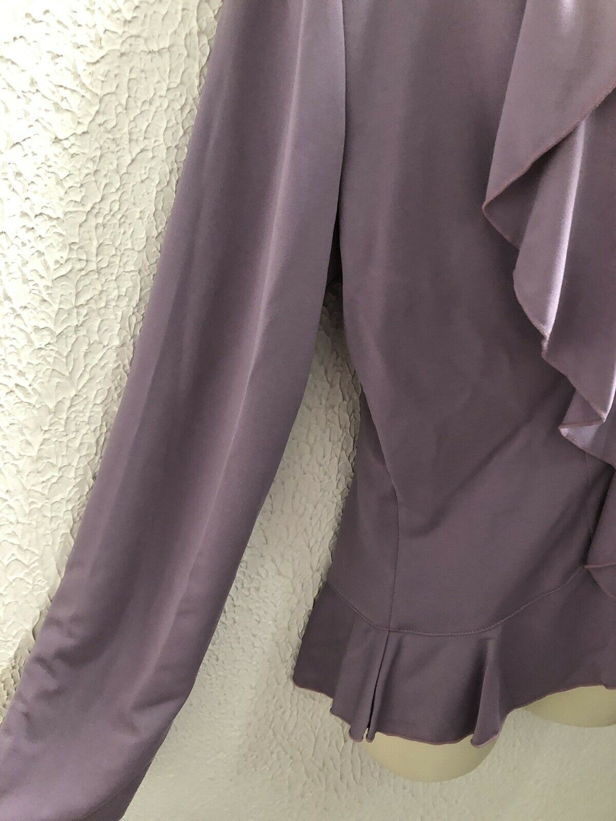 Vintage Casual Corner Purple Lilac Ruffled Blouse… - image 3