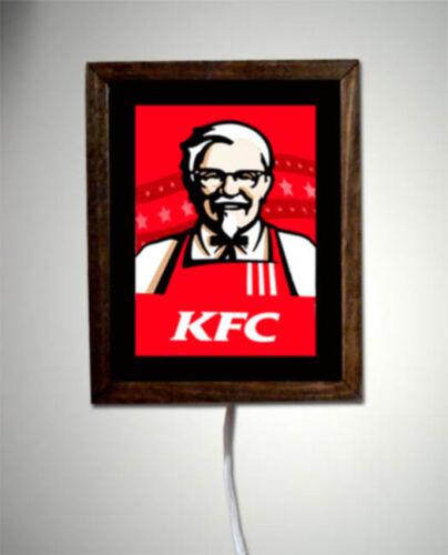 KFC Colonial Sanders Kentucky Fried Chicken Restaurant Retro Light Lighted Sign