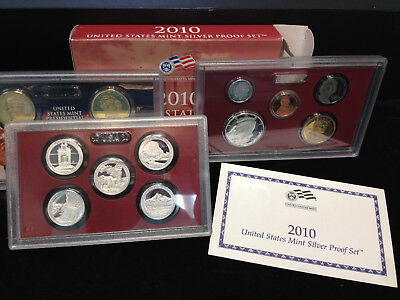 2010-S U.S Mint Silver Proof Set With Box And COA