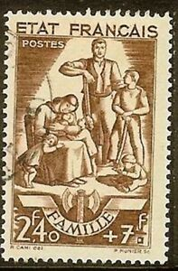 FRANCE-TIMBRE-STAMP-N-578-034-FAMILLE-2F40-7F-BRUN-034-OBLITERE-TB