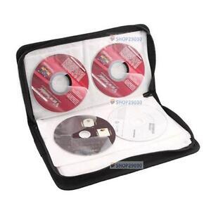 Hot-80-disco-porta-CD-DVD-caso-bolsa-de-almacenamiento-Organizador-simil-cuero