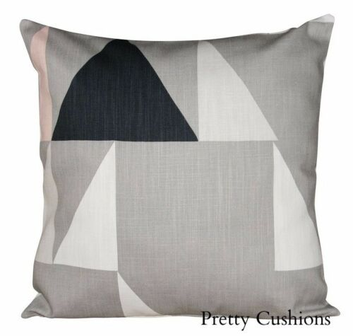 Scion Modul Blush & Parchment Geometric Chevron Cushion Cover