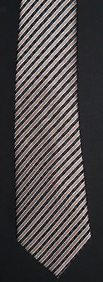 SEAN JOHN Necktie Tall Brown Gold Black New Tag $52.50 Extra Long Silk