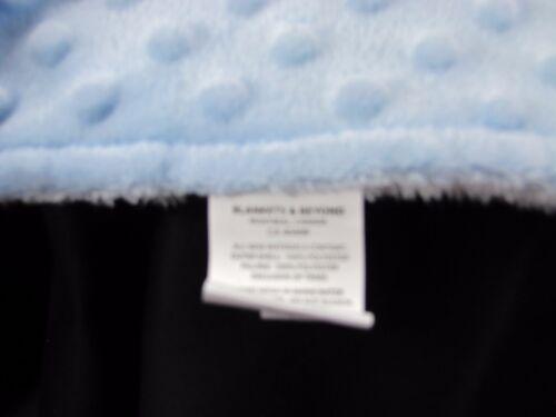 Blankets /& Beyond Blue Minky Dot White Bear Security Lovey Pacifier Holder NEW