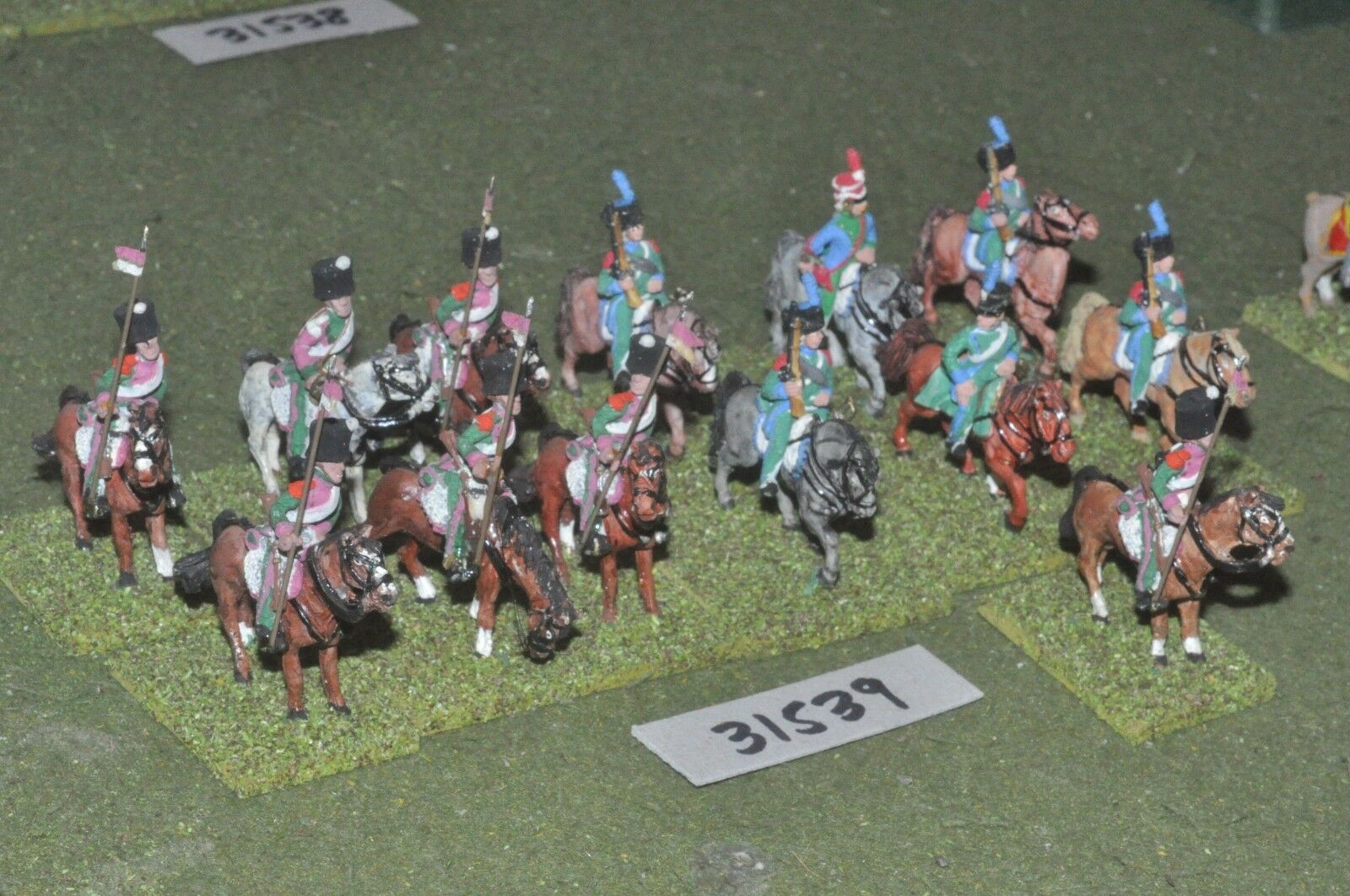 25mm napoleonic   french - light 14 figures - cav (31539)
