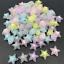 20X Acrylic Transparent Star Shape Bead Beaded Spaced Bead Jewelry Making 16mm