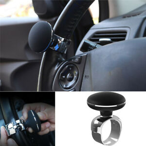 Car Steering Wheel Spinner Knob Auxiliary Booster Aid Control Handle Grip Black Steering Wheel Knob Ball Turning Assistant Automobiles & Motorcycles