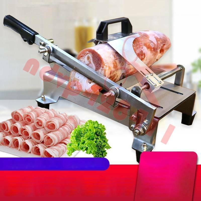 Réglable Manuel viande congelée Trancheuse Kit Boeuf Trancheuse Hotpot BBQ ARGENT