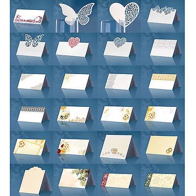 Wunderschöne Tischkarten 10/25/50 Stück Platzkarten Hochzeit Deko Namensschilder