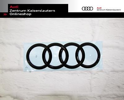 Original Audi Ringe schwarz vorne und hinten Set bis 2019 VFL Audi A4 Avant 8W
