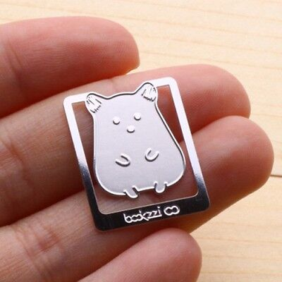 Mini Metal Silver Color Bookmark Hamster My Cute Pet Index Clip Type Thin&Light