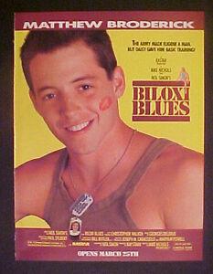 1988 Matthew Broderick Biloxi Blues Niel Simon Movie 8 X 11