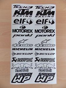Details Zu Rc8 Tech3 Sponsoren Aufkleber Set 2x11 Stück Motorrad Auto 10cm Breit