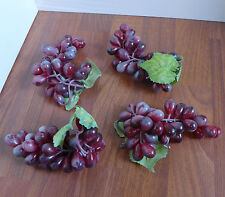 Set of 4 Artificial Fruits Wine Red Grapes For Kitchen Table Decoration
