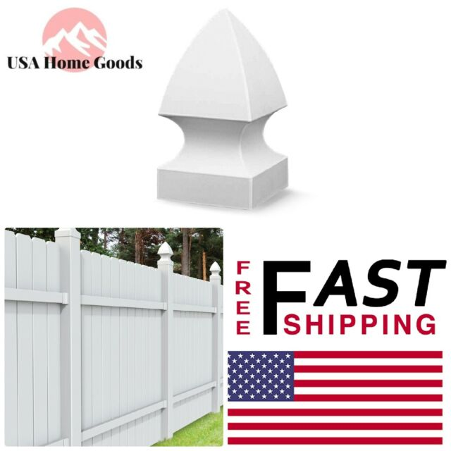 "3.5 x 3.5 PVC Fence Post FRENCH GOTHIC Cap Top Vinyl White 3 1//2/"" x 3 1//2 USA"