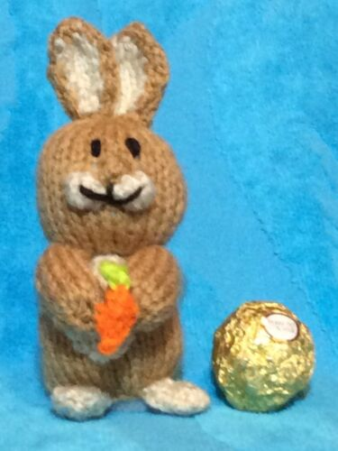Easter Bunny Rabbit chocolate cover fits Ferrero Rocher KNITTING PATTERN
