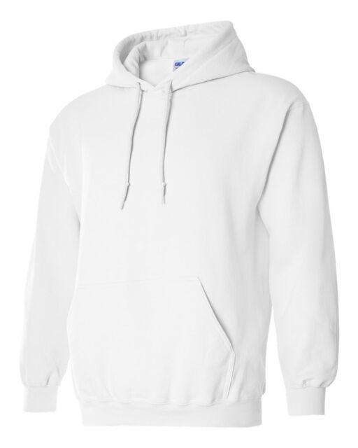 Gildan HOODIE BLANK BULK LOT G185 Colors White Plain S XL Wholesale Hooded 18500