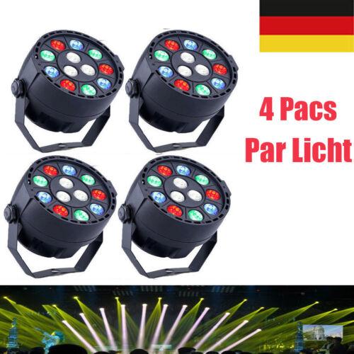 4X 15W Disco Lichteffekt LED DJ Party RGBW DMX Bühnenbeleuchtung Effekt Licht EU