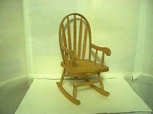 Superb Details About Teddy Bear Doll Figure Wood Rocking Chair Beatyapartments Chair Design Images Beatyapartmentscom