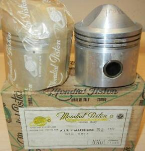 1956-Matchless-G9B-545cc-NOS-69mm-080-034-Italian-Mondial-1482-PAIR-pistons-124