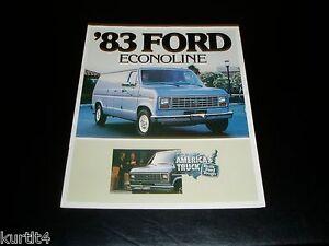 Details about 1983 Ford Econoline Van E100 E150 E250 E350 sales brochure  dealer literature