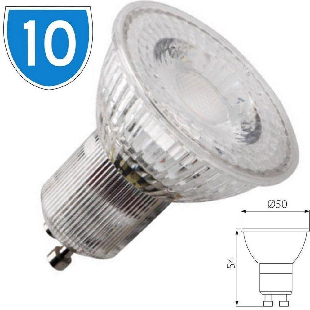 10 x KANLUX 3W kompakt GU10 Halter Zimmer Schreibtisch Lampe Tageslicht