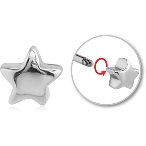 Aufsatz zum Schrauben Stern 1.2 mm Stahl Helixpiercing Traguspiercing Ersatz