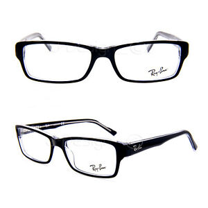 9b50ae3a0f Ray Ban RB 5169 2034 Black on Clear 54 16 140 Eyeglasses Rx - New ...