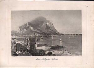 C1880 Vittoriano Stampa ~ Monte Pellegrino Palermo ~ Harry FENN