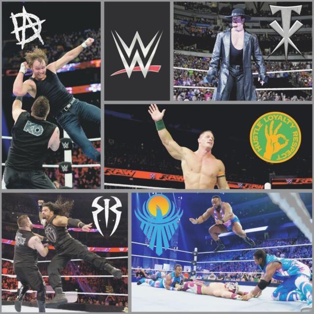 Wwe Wrestling Carta da Parati Ufficiale con John Cena a Pacchetto Reigns The