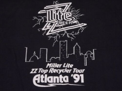 VINTAGE ZZ TOP 91 RECYCLER RARE ATLANTA TOUR T SHIRT SIZE LARGE